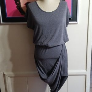 XTAREN - GRAY DRESS HI LOW HEM